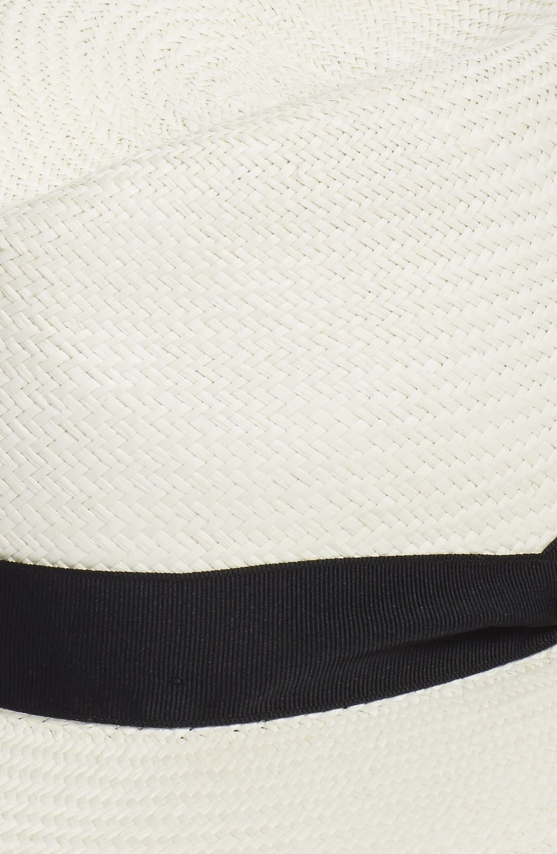 Straw Panama Hat,                             Alternate thumbnail 2, color,                             White