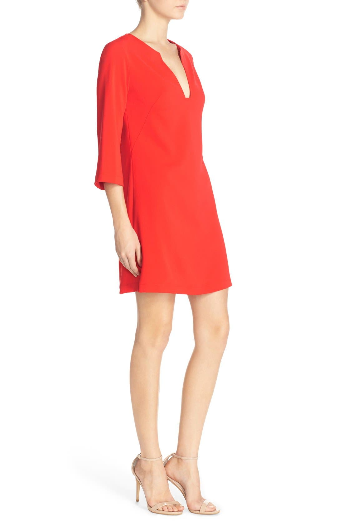 Alternate Image 3  - Amanda Uprichard Stretch Crepe A-Line Dress