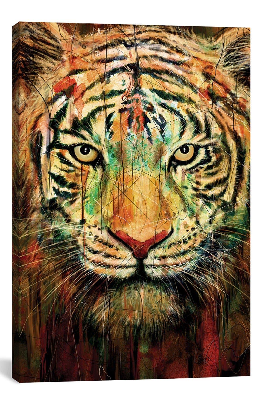 'Tiger II' Giclée Print Canvas Art,                         Main,                         color, Black