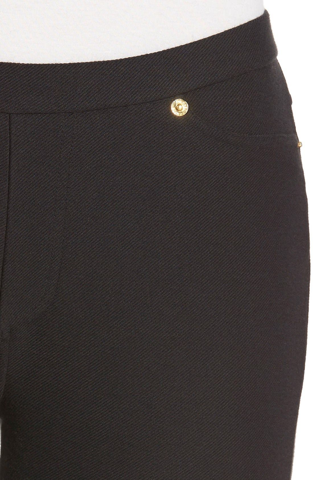 Alternate Image 4  - MICHAEL Michael Kors Stretch Twill Leggings