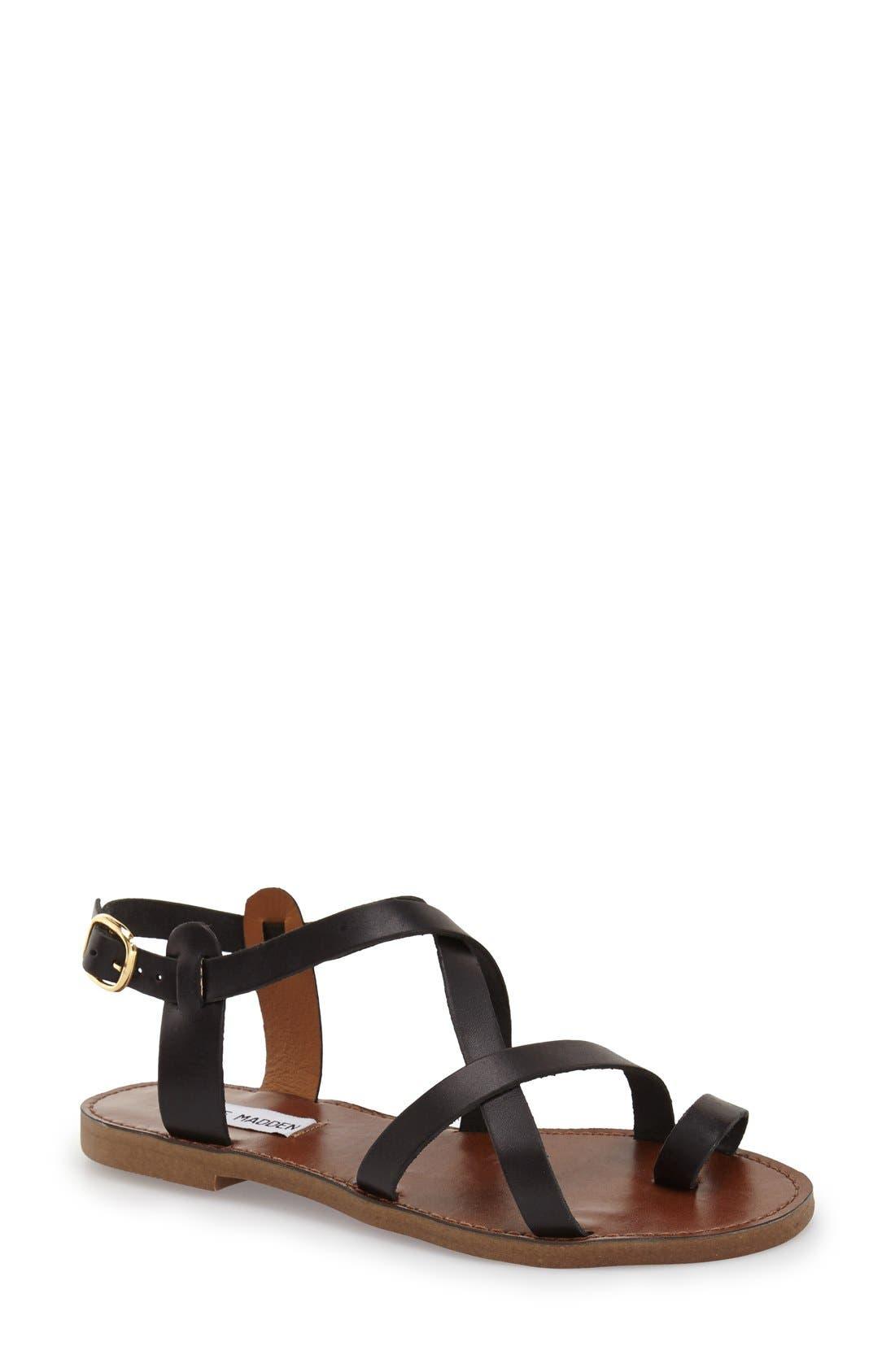 Alternate Image 1 Selected - Steve Madden 'Agathist' Leather Ankle Strap Sandal (Women)