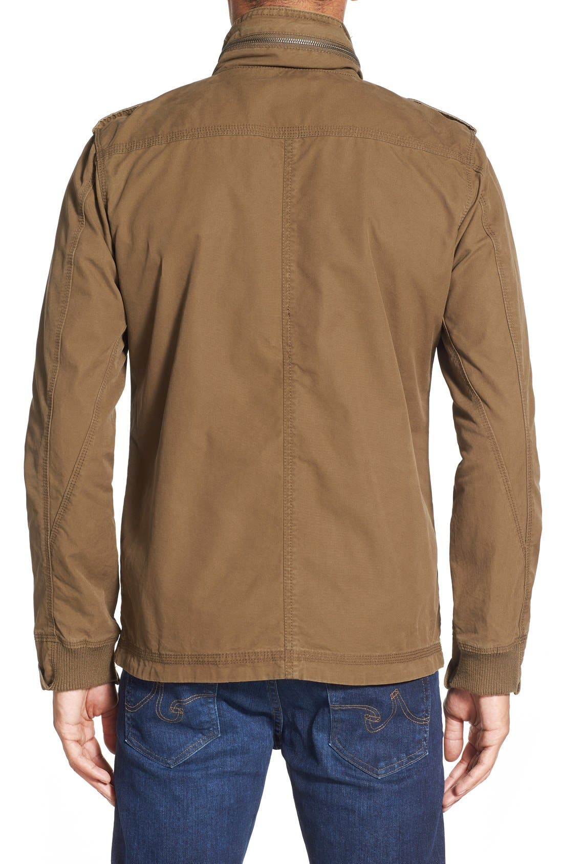 'Paxton' Military Jacket with Stowaway Hood,                             Alternate thumbnail 2, color,                             Peat