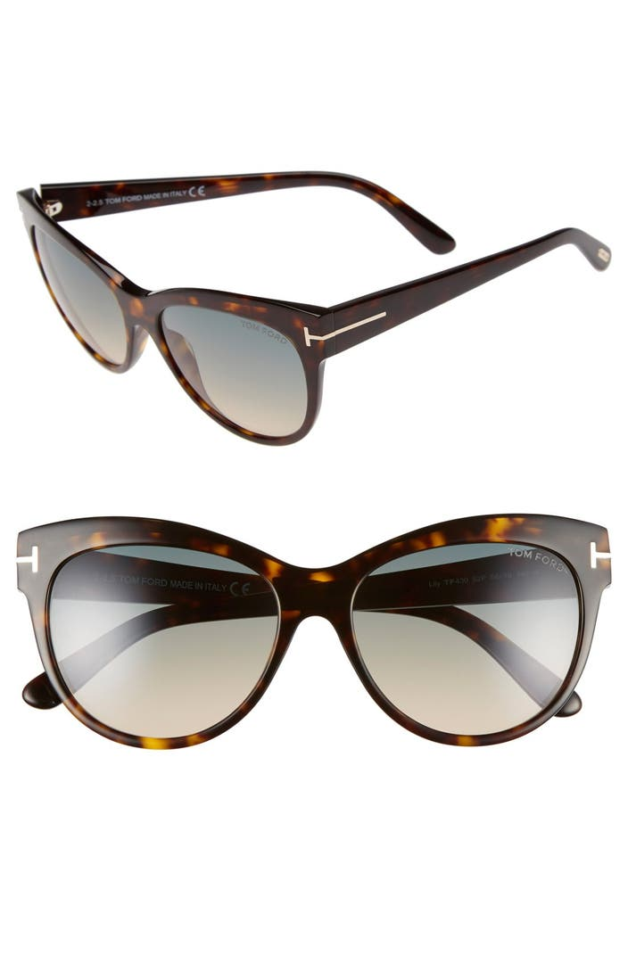 tom ford 39 lily 39 56mm cat eye sunglasses nordstrom. Black Bedroom Furniture Sets. Home Design Ideas