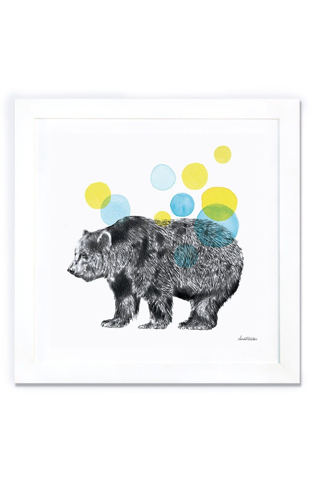 Alternate Image 1 Selected - iCanvas 'Sketchbook - Bear' Giclée Print Framed Canvas Art