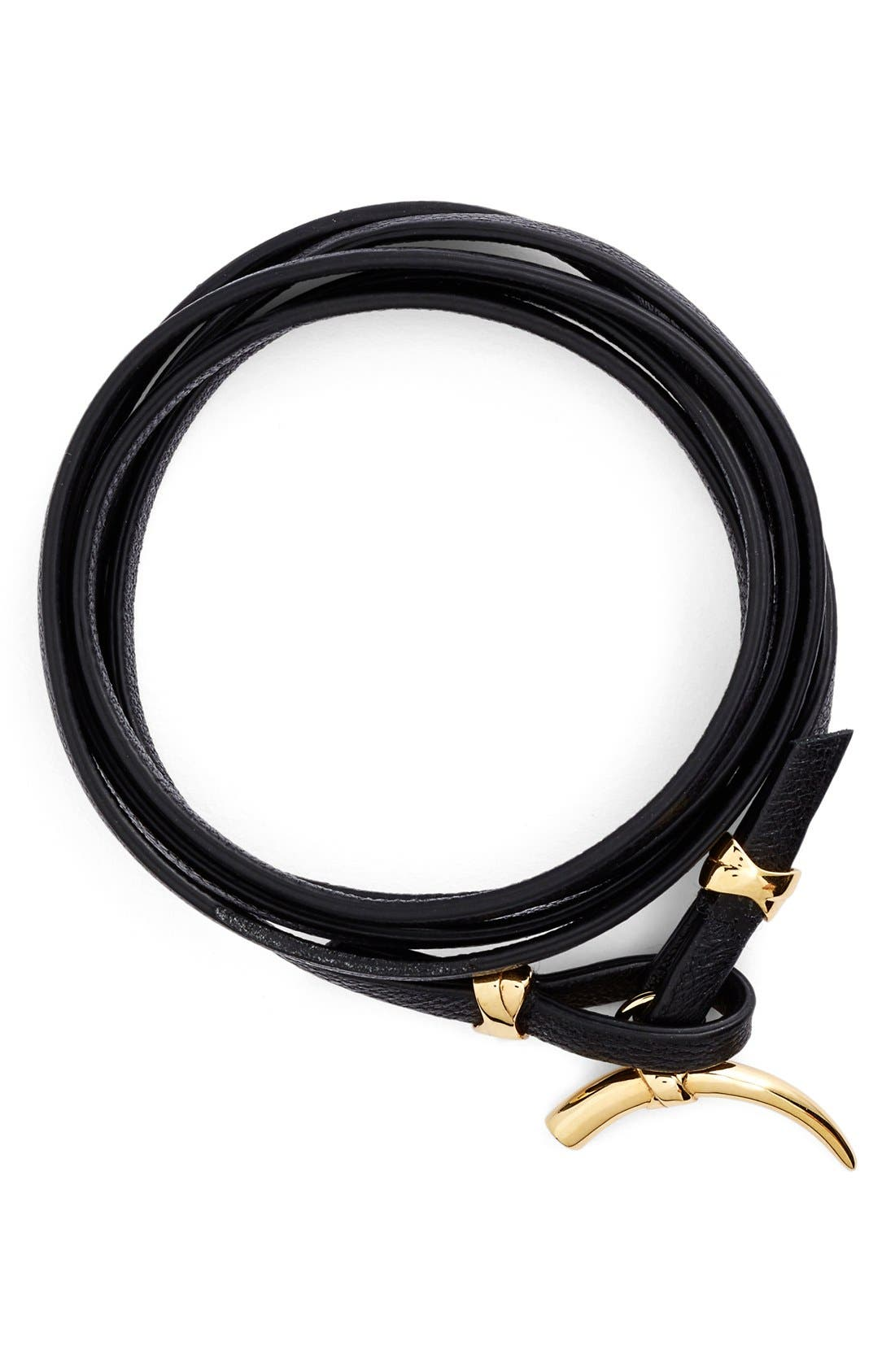 Alternate Image 1 Selected - Tory Burch Leather Wrap Bracelet