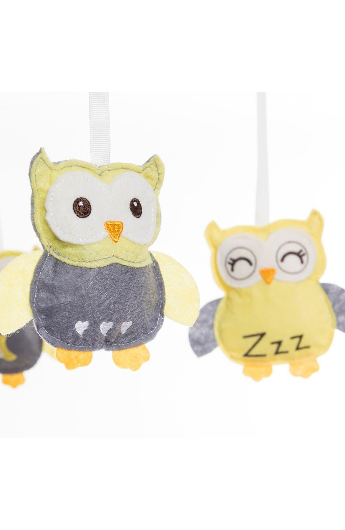 'Sleepy Owl' Mobile,                             Alternate thumbnail 2, color,                             Yellow