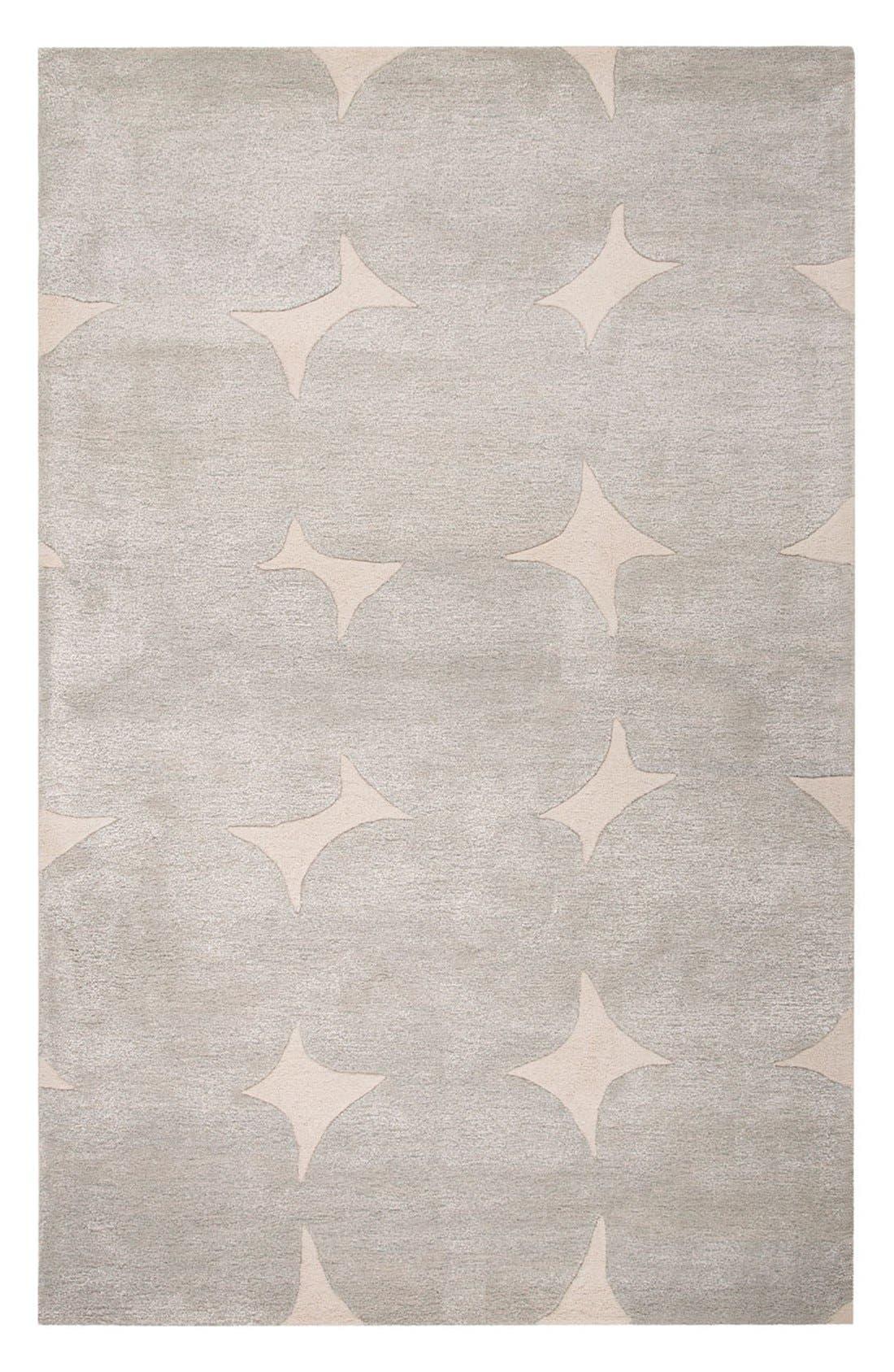 'gramercy' dot wool & silk rug,                             Main thumbnail 1, color,                             Grey