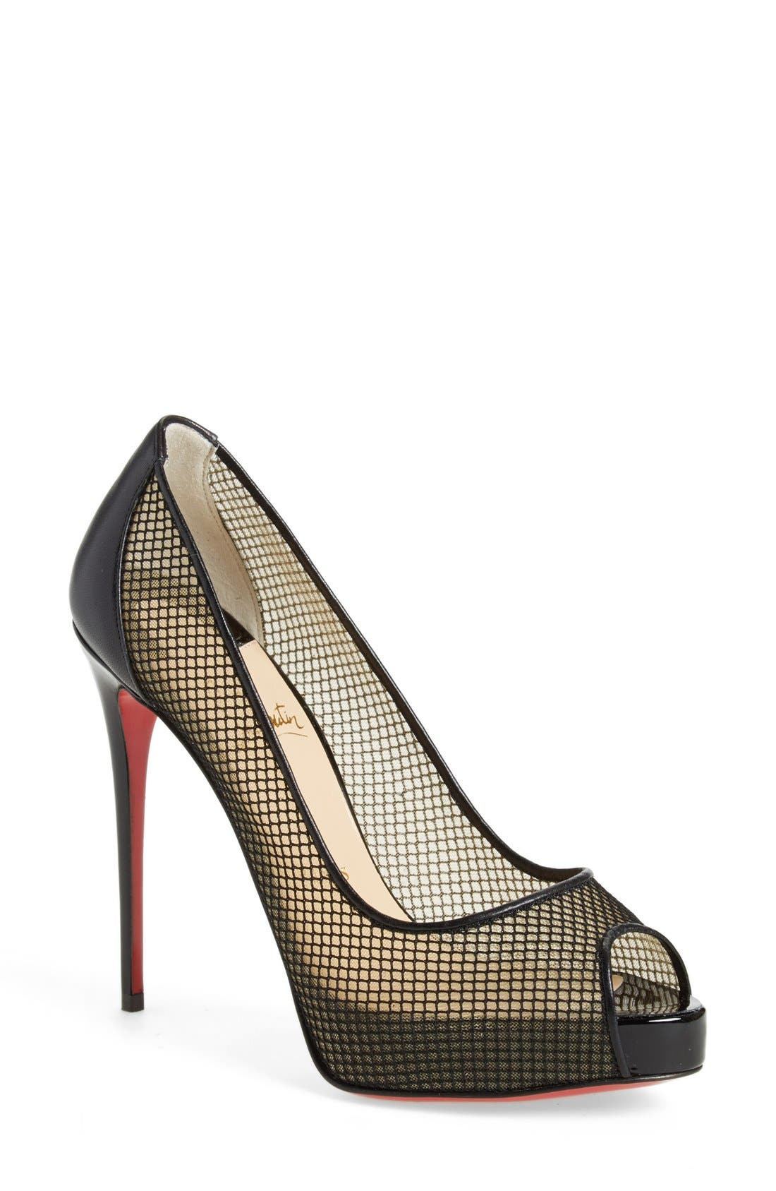 Alternate Image 1 Selected - Christian Louboutin 'Very Rete' Mesh Peeptoe Pump