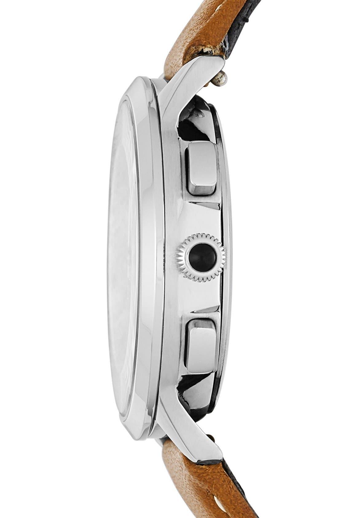 Alternate Image 2  - Fossil 'Abilene' Chronograph Leather Strap Watch, 34mm