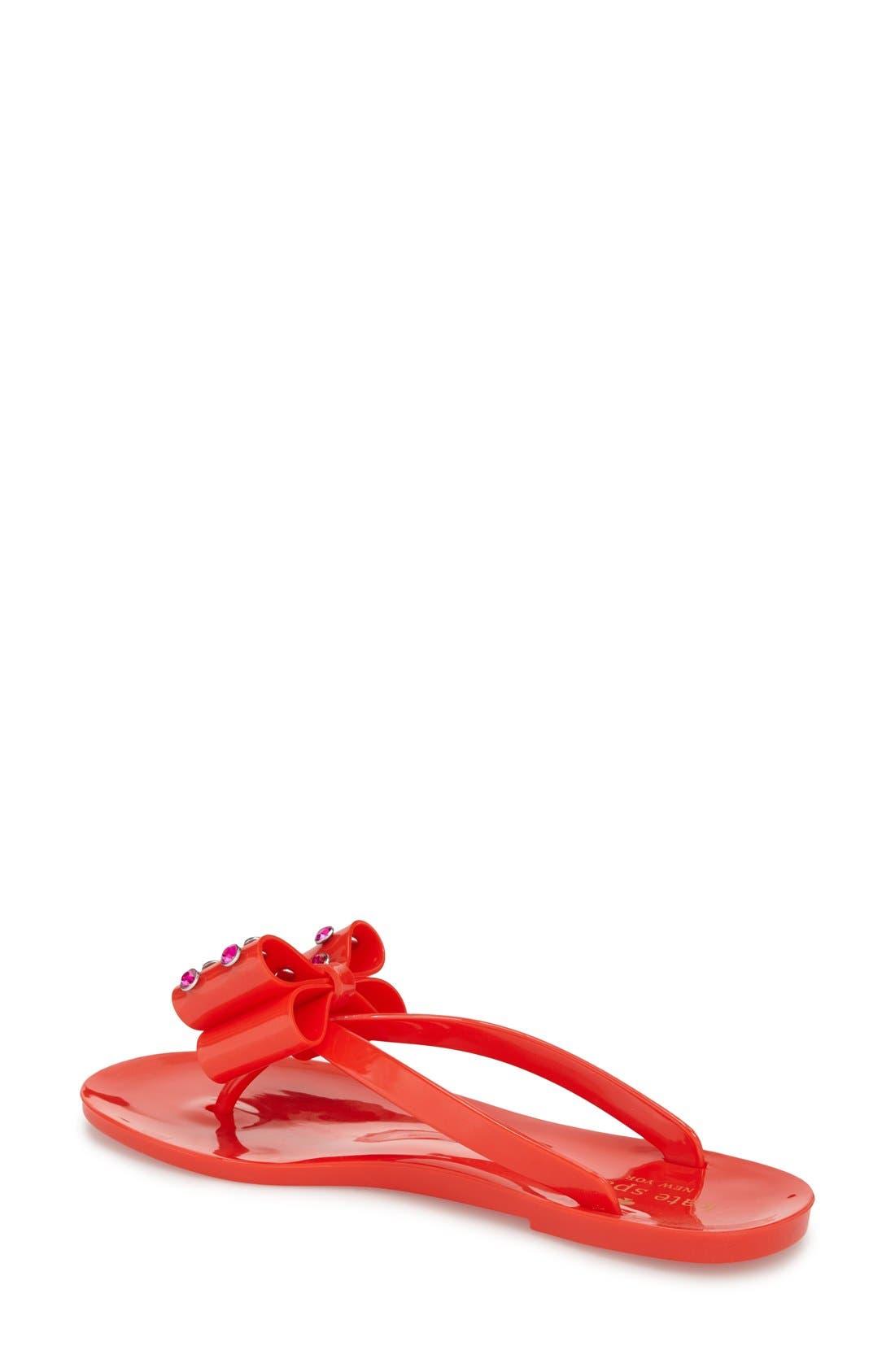 Alternate Image 2  - kate spade new york 'francy' crystal bow flip flop (Women)