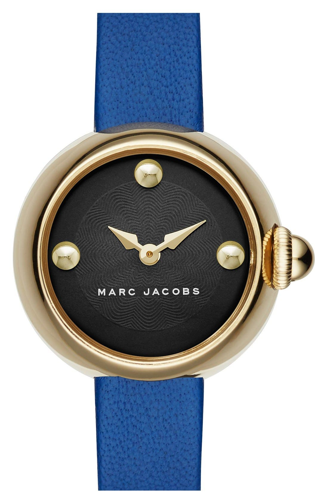 Main Image - MARC JACOBS 'Courtney' Leather Strap Watch, 28mm