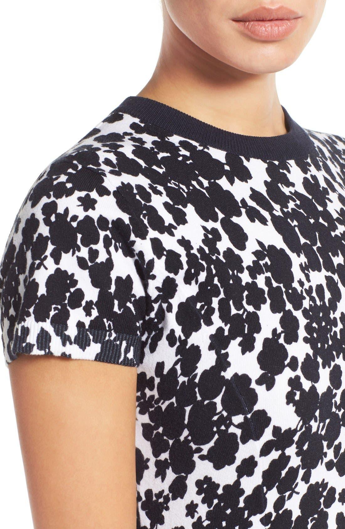 Alternate Image 4  - MICHAEL Michael Kors 'Gemma' Print Fit & Flare Sweater Dress