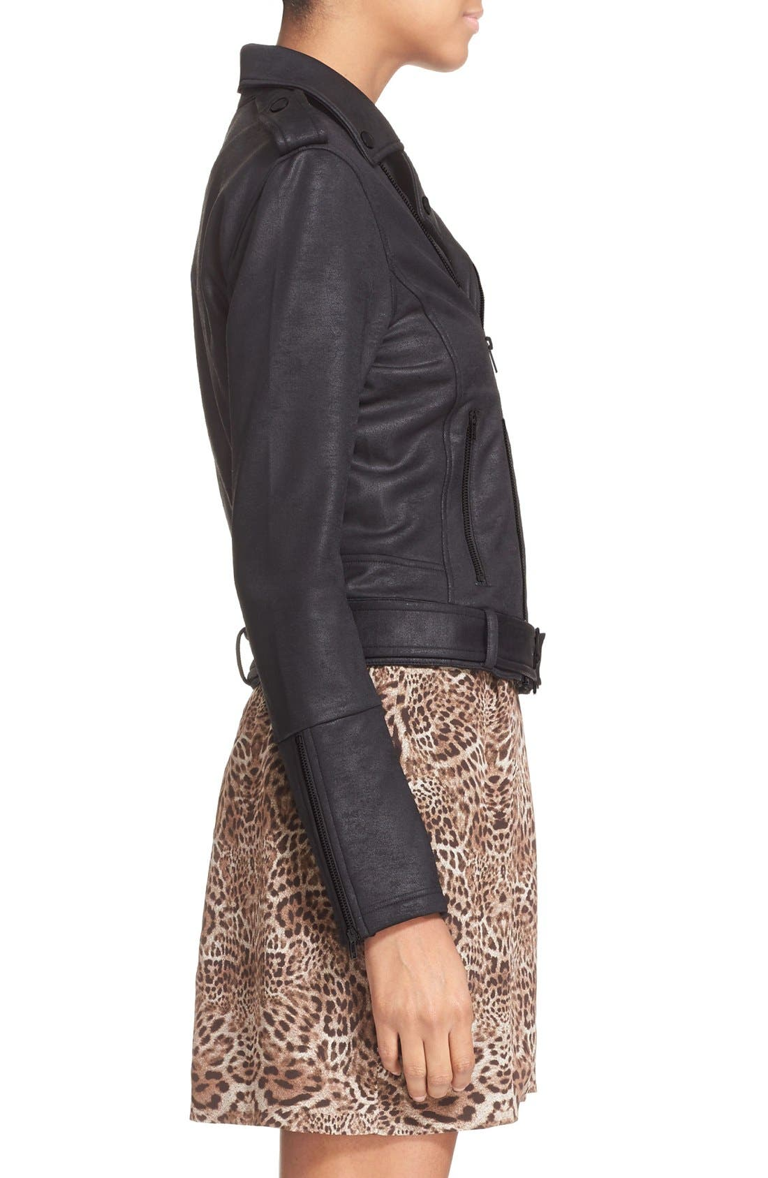 Alternate Image 4  - The Kooples Faux Leather Moto Jacket