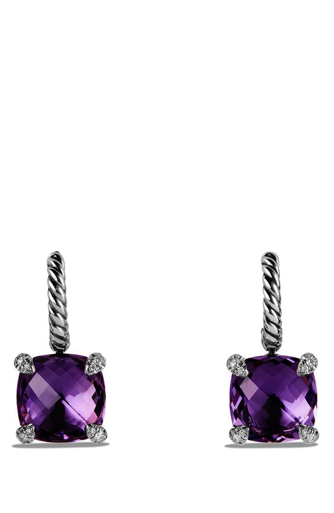 David Yurman 'Châtelaine' Drop Earrings with Semiprecious Stones and Diamonds