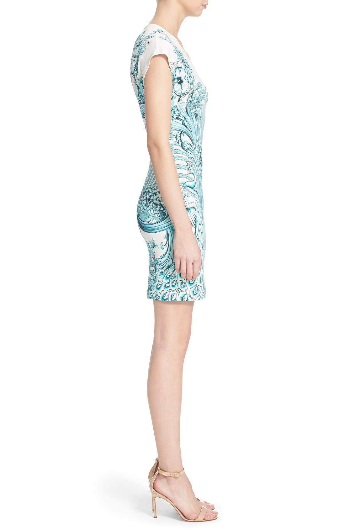 Alternate Image 3  - Just Cavalli Peacock Jersey Body-Con Dress