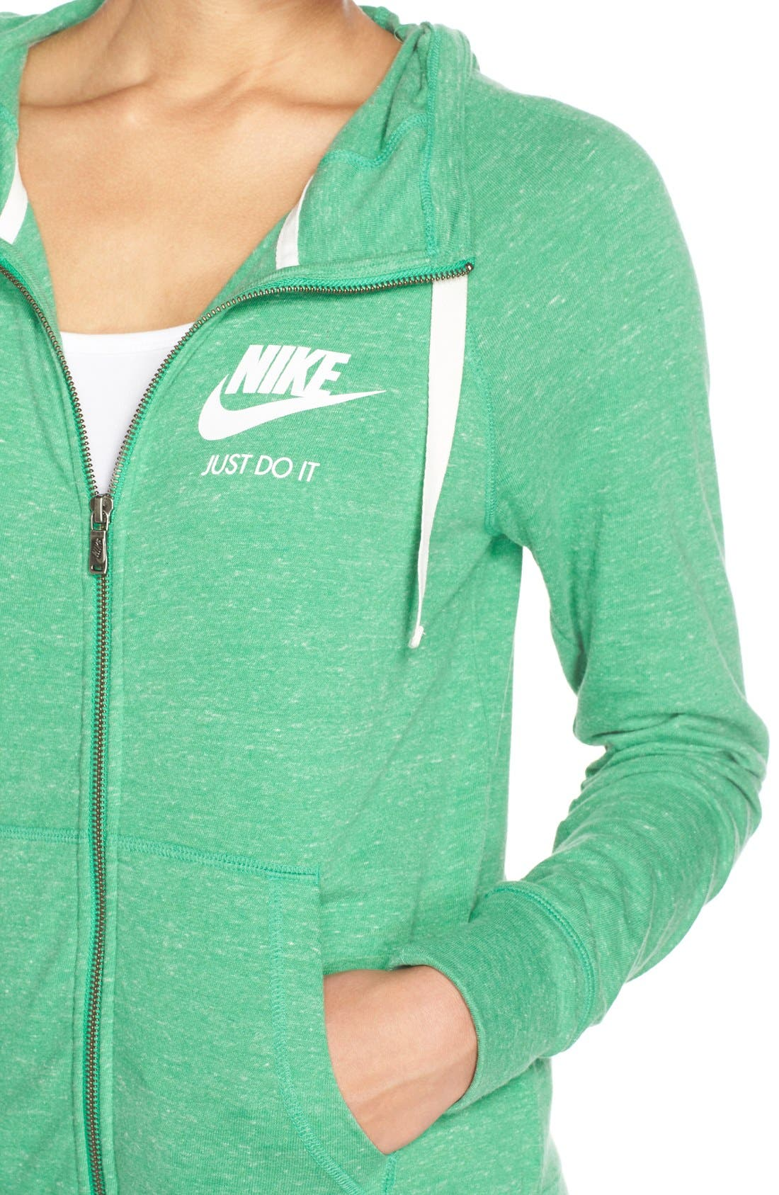 Alternate Image 4  - Nike Gym Zip Hoodie