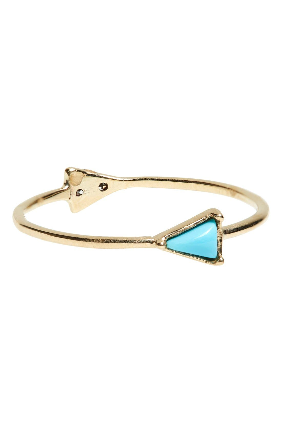 Double Triangle Ring,                         Main,                         color, Yellow Gold