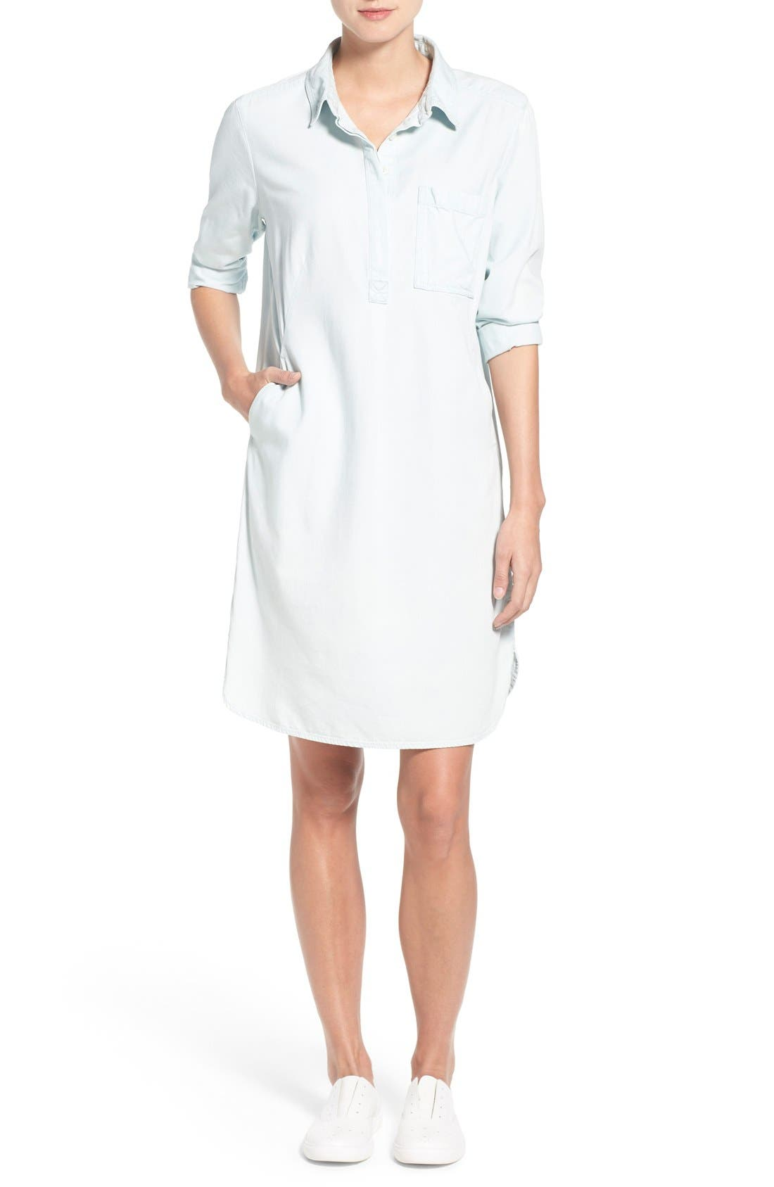Main Image - Caslon® Popover Shirtdress (Regular & Petite)