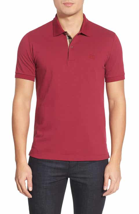 Men 39 s polo shirts long short sleeved nordstrom for Mens big and tall burberry shirts