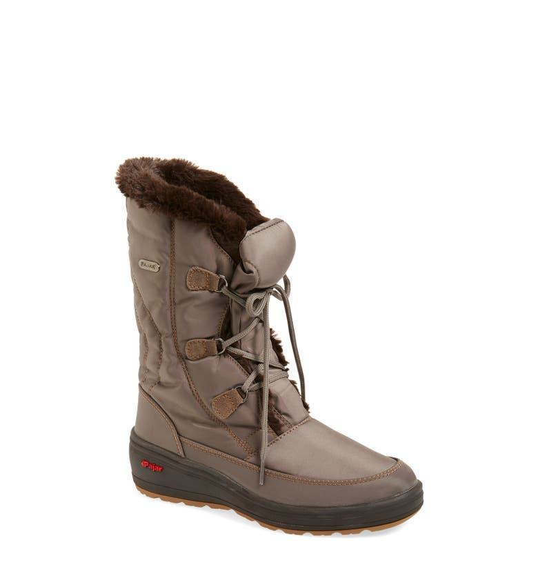 Pajar marcie waterproof snow boot with faux fur collar