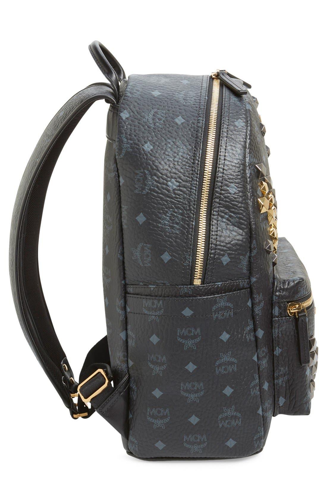 Alternate Image 5  - MCM 'Medium Stark - Visetos' Studded Backpack