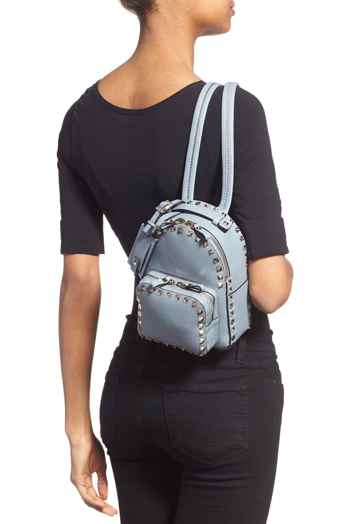 Alternate Image 2  - Valentino 'Small Rockstud' Leather Backpack