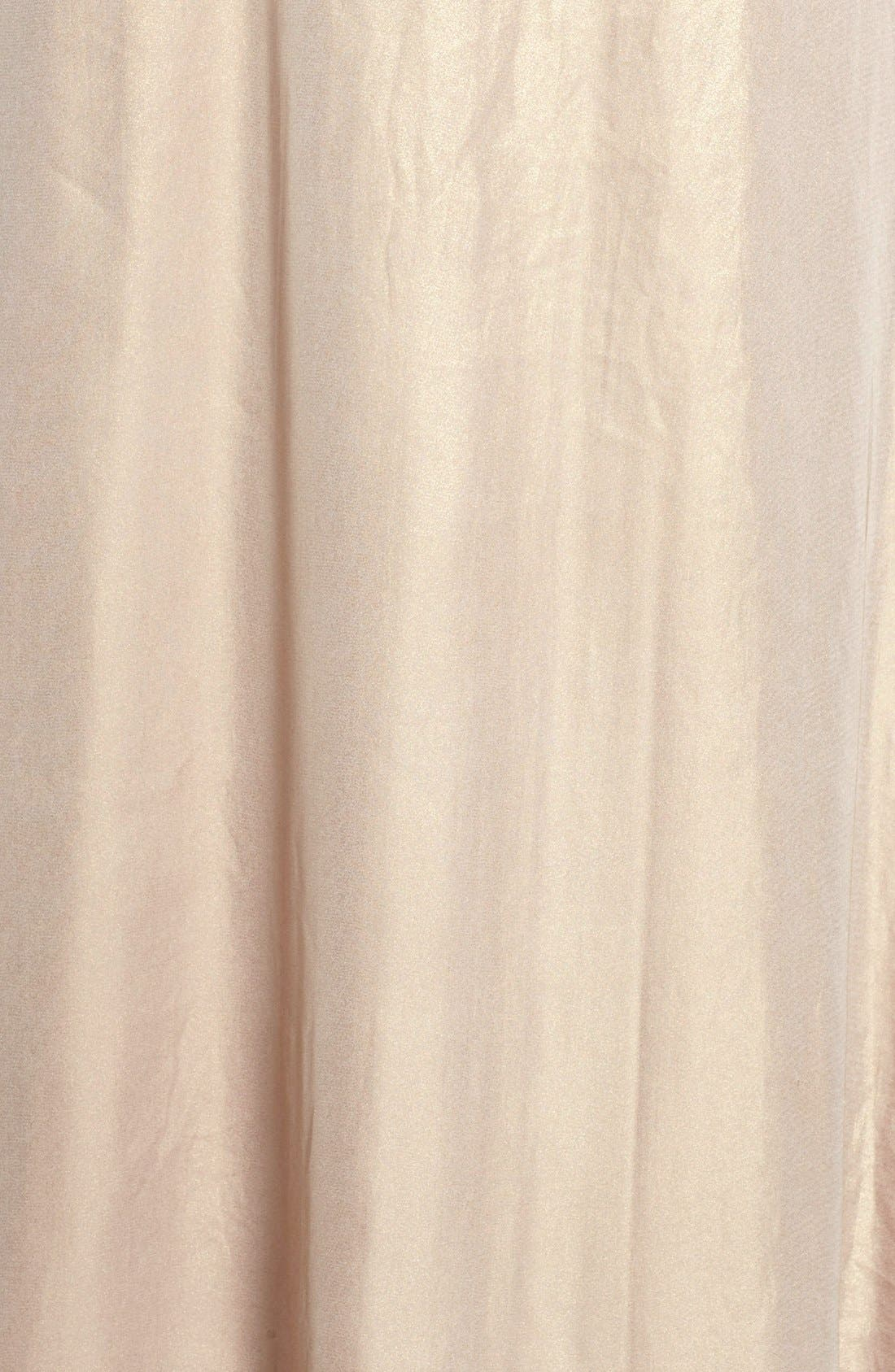 'Lilith' Ruffle Bib Liquid Chiffon Halter Gown,                             Alternate thumbnail 5, color,                             Rose Gold