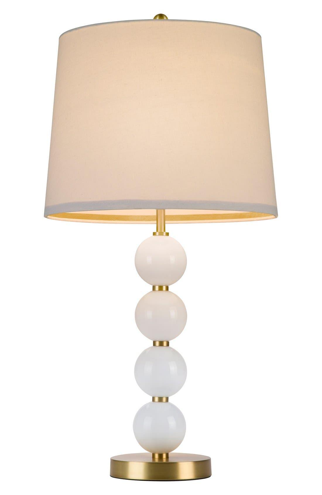 Stacked Ball Table Lamp,                             Main thumbnail 1, color,                             Pink
