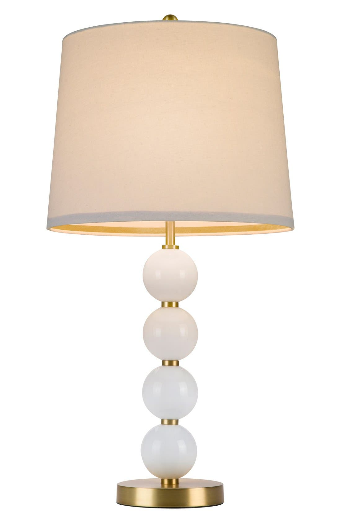 Stacked Ball Table Lamp,                         Main,                         color, Pink
