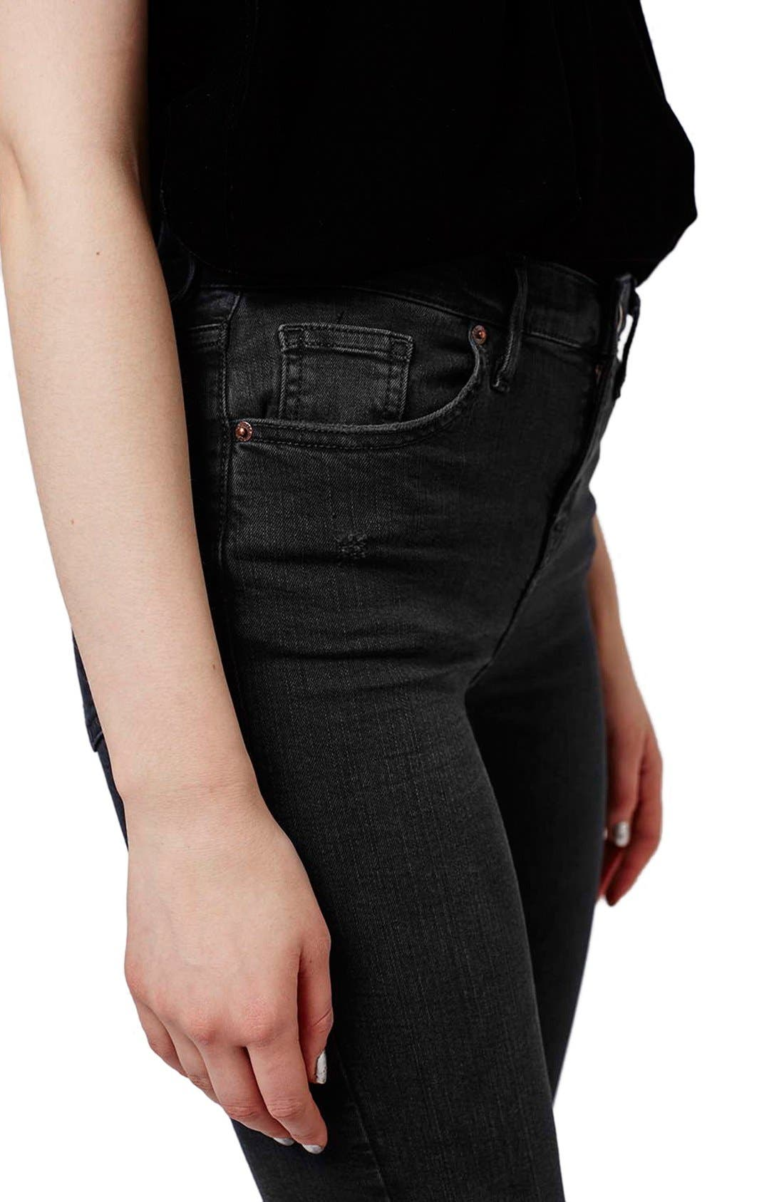 Alternate Image 5  - Topshop Moto 'Jamie' Ripped Skinny Crop Jeans (Petite)