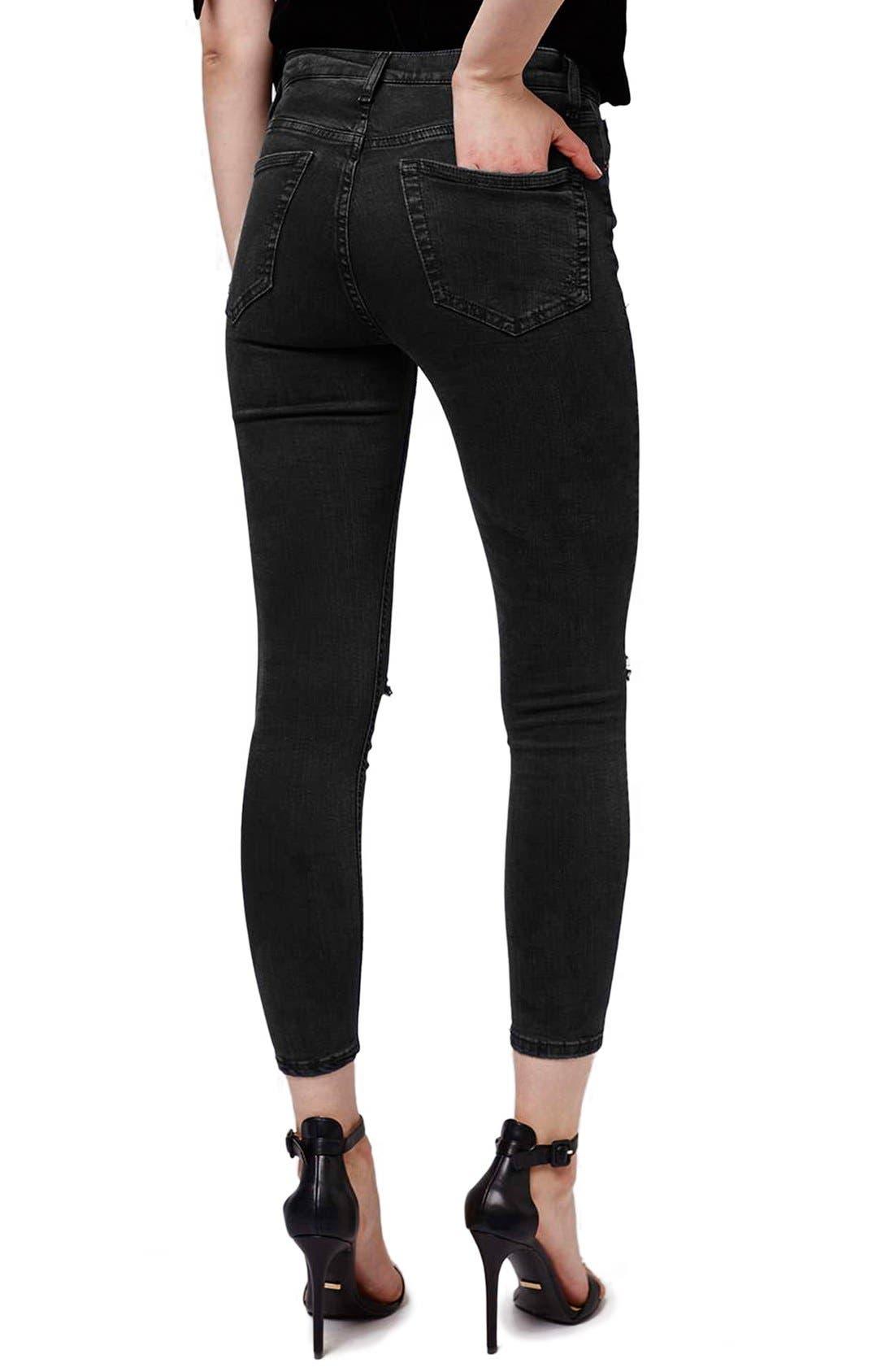 Alternate Image 3  - Topshop Moto 'Jamie' Ripped Skinny Crop Jeans (Petite)