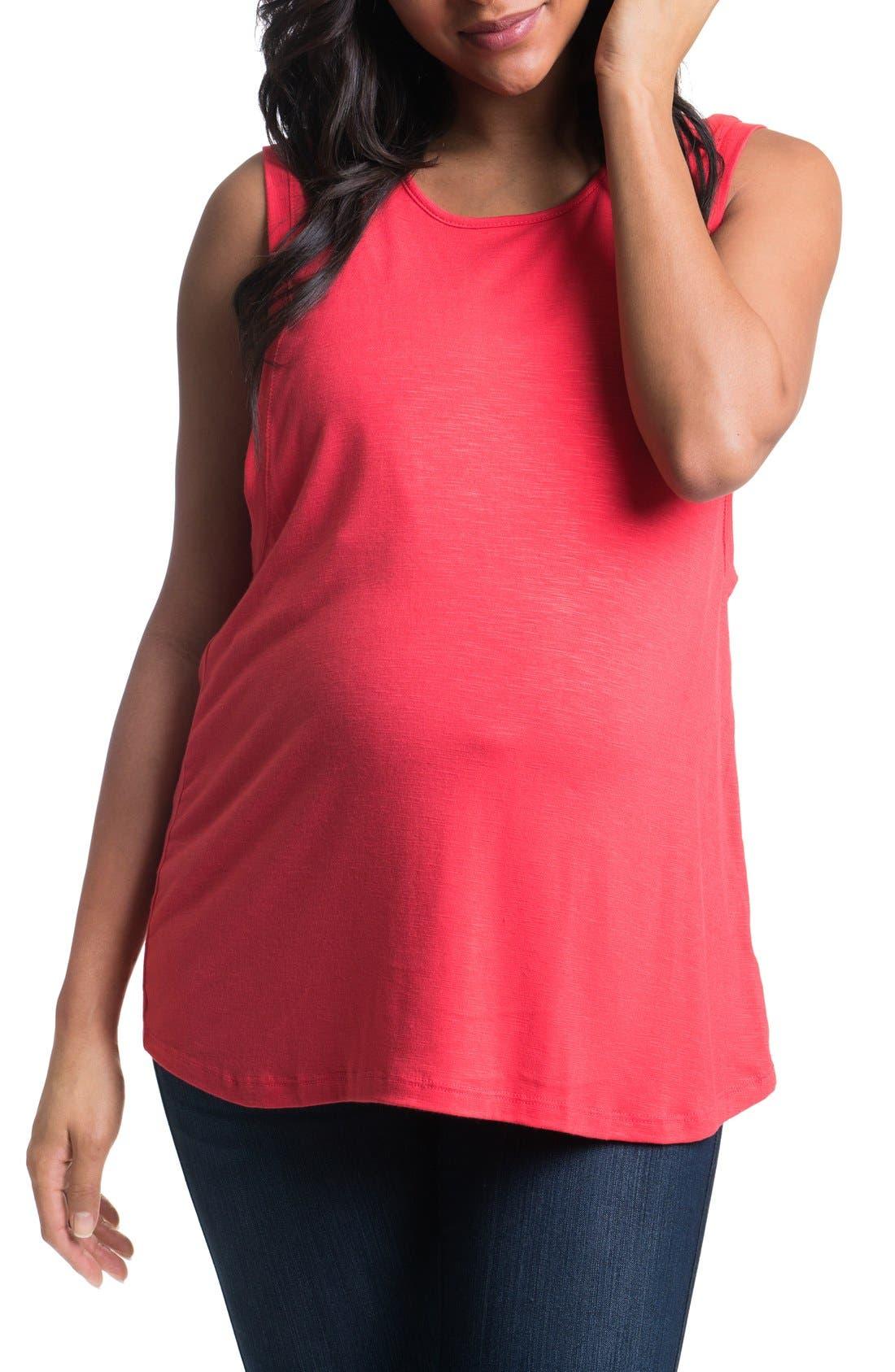 Bun Maternity High Neck Maternity Tank