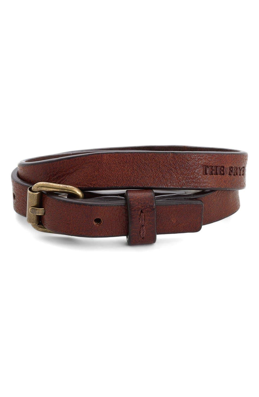 Alternate Image 1 Selected - Frye Leather Wrap Bracelet