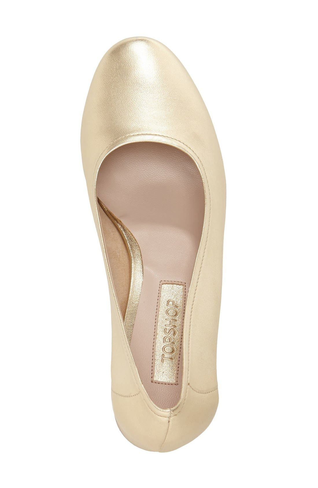 Alternate Image 3  - Topshop 'Juno' Ballet Shoe (Women)