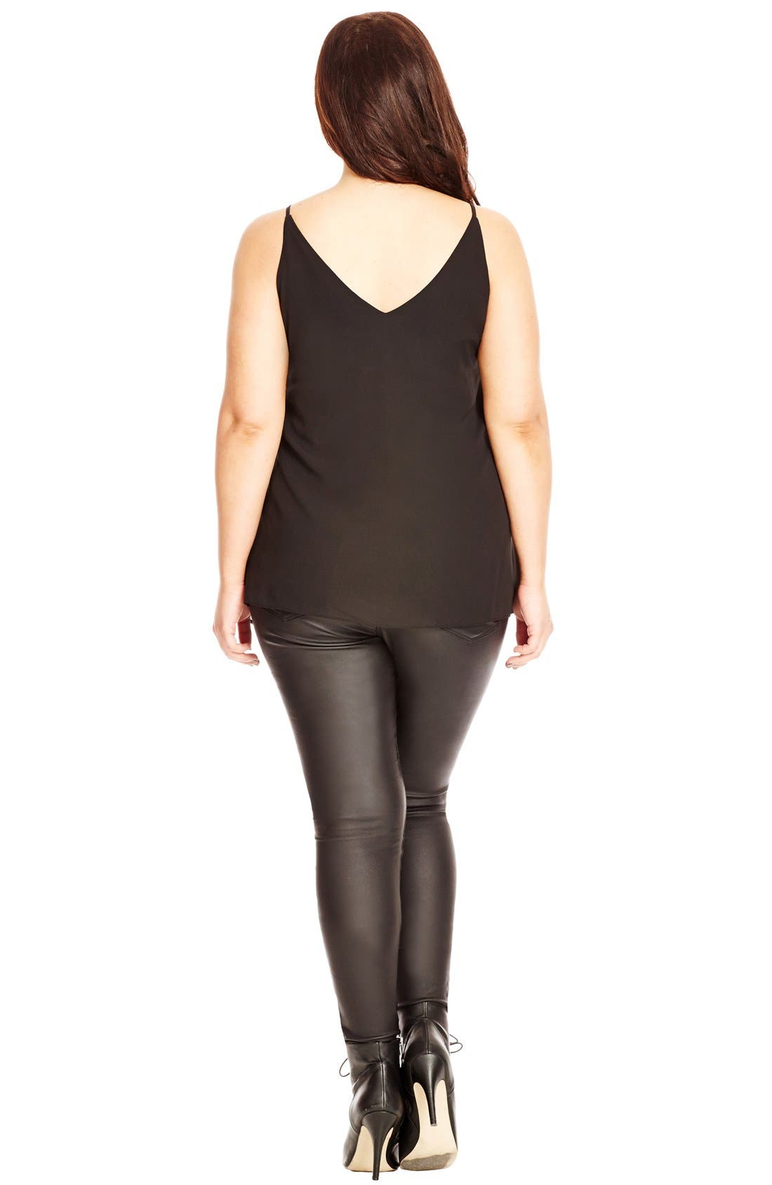 Alternate Image 2  - City Chic Double Layer V-Neck Camisole Top (Plus Size)