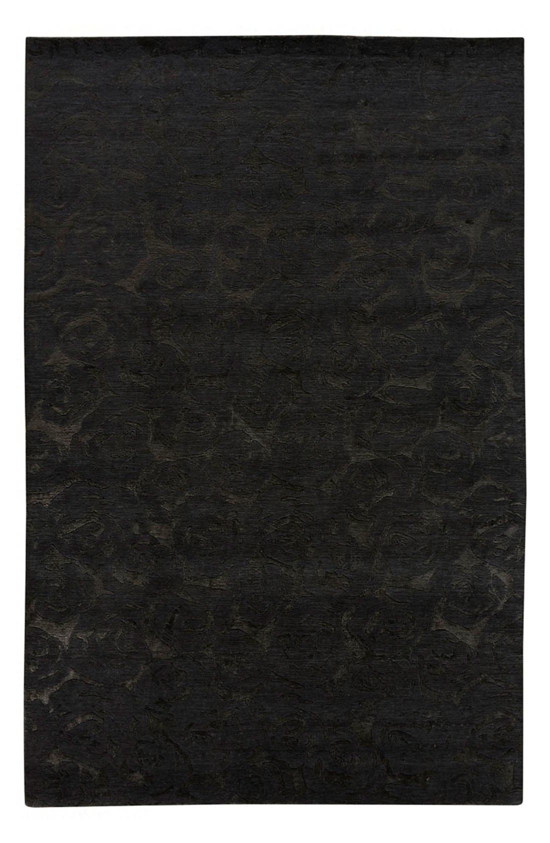 'noho' premium wool blend rug,                             Main thumbnail 1, color,                             Black