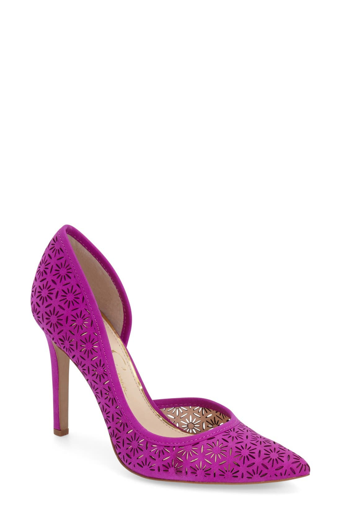 Alternate Image 1 Selected - Jessica Simpson 'Claudette' Half d'Orsay Pump