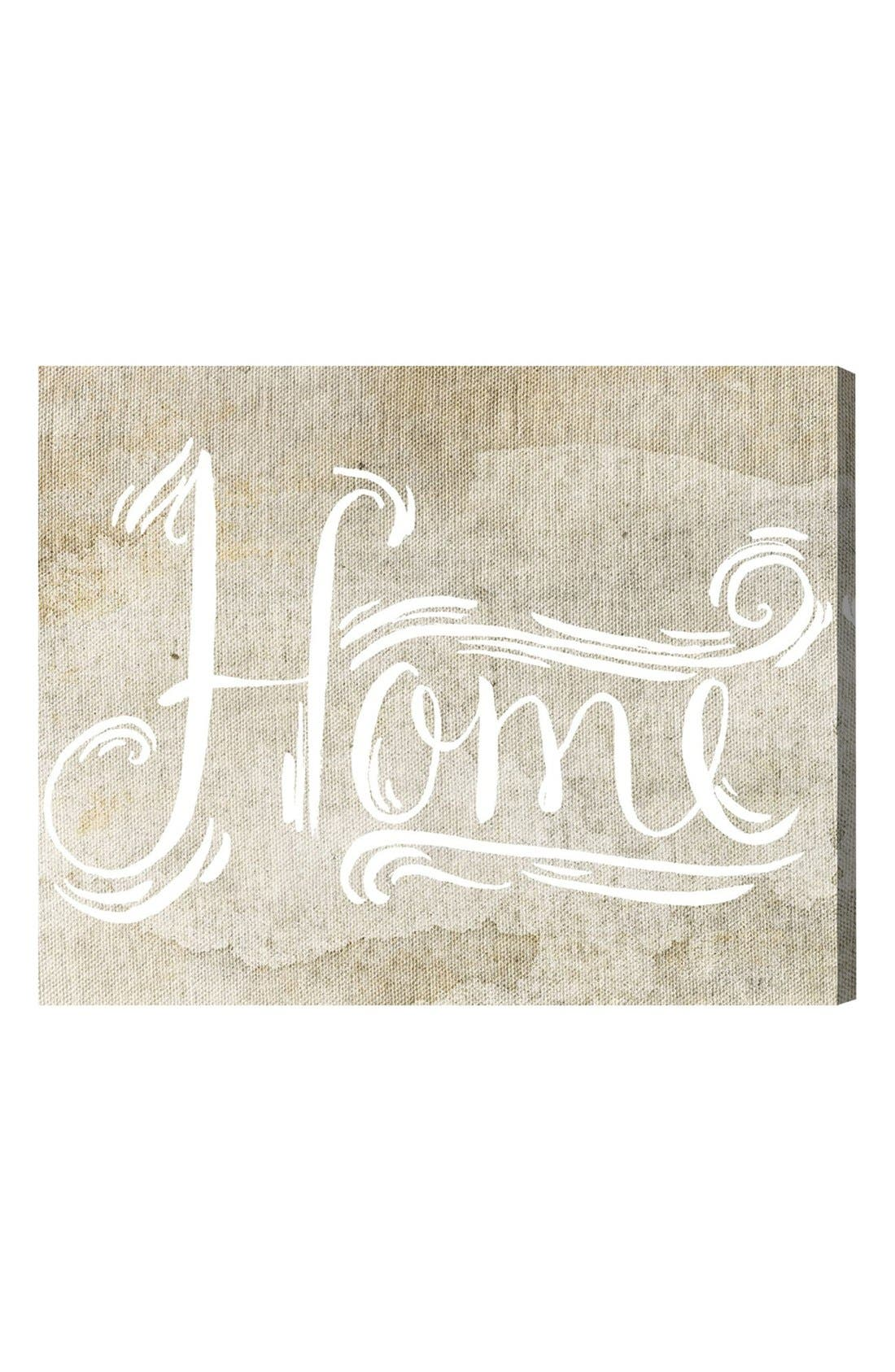 'Home Sweet Home' Hand Stretched Canvas Wall Art,                             Main thumbnail 1, color,                             Beige