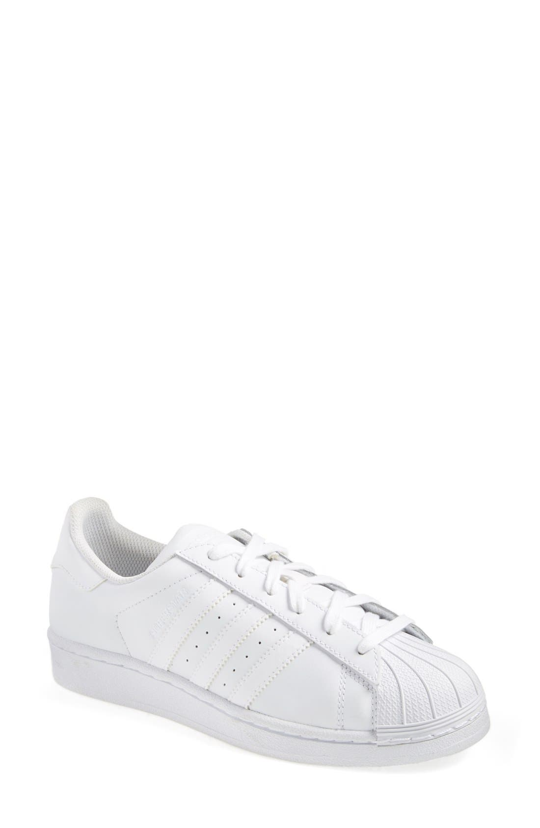 Superstar Sneaker,                             Main thumbnail 1, color,                             White
