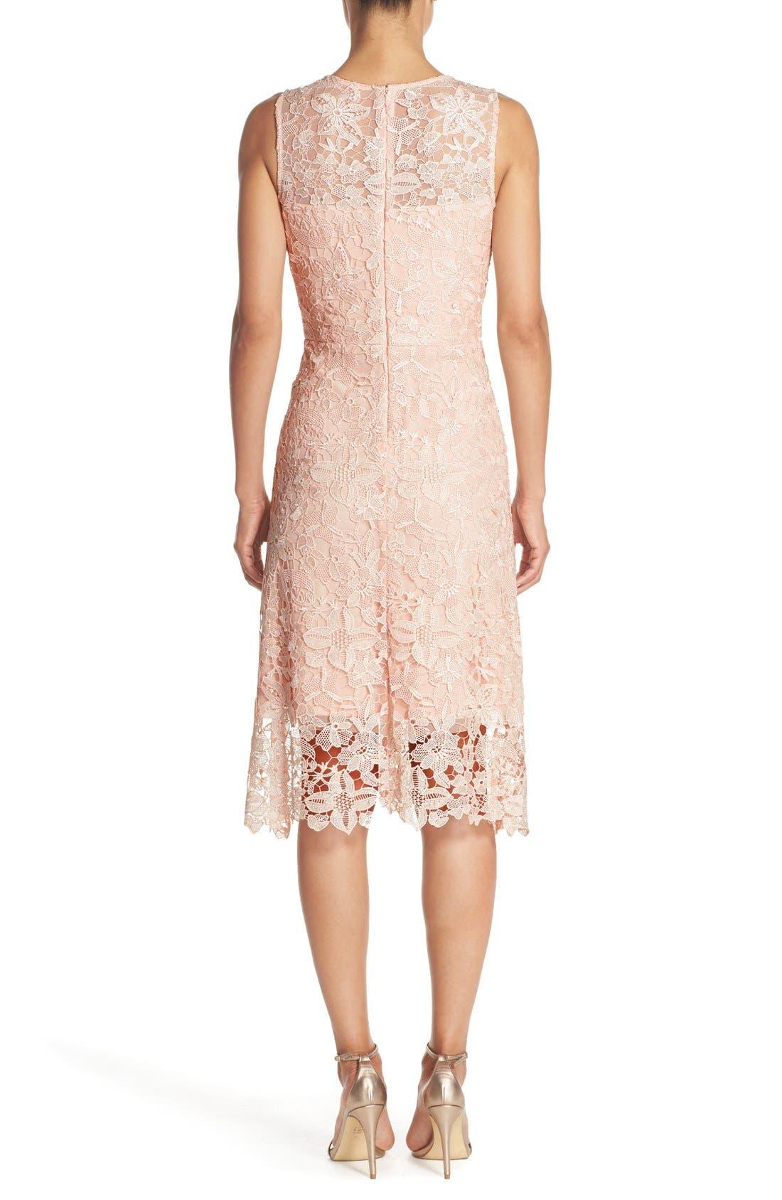 Alternate Image 2  - Julia Jordan Floral Lace A-Line Dress