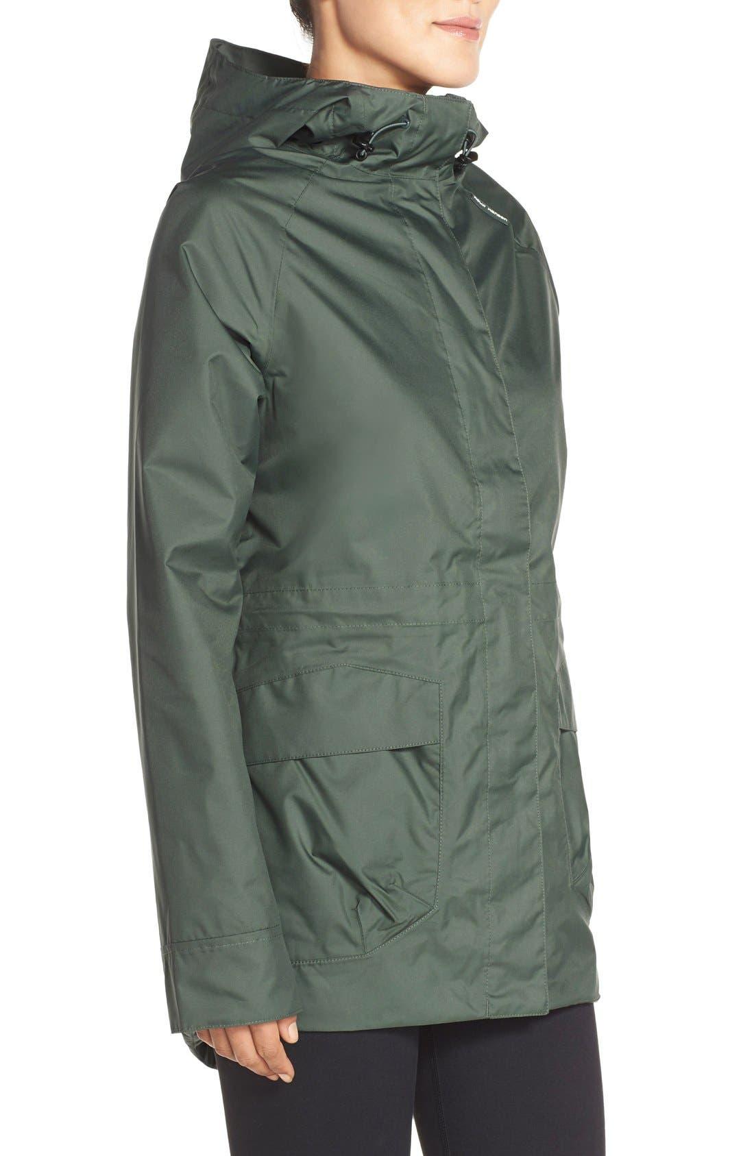 'Appleton' Waterproof Coat,                             Alternate thumbnail 3, color,                             Rock