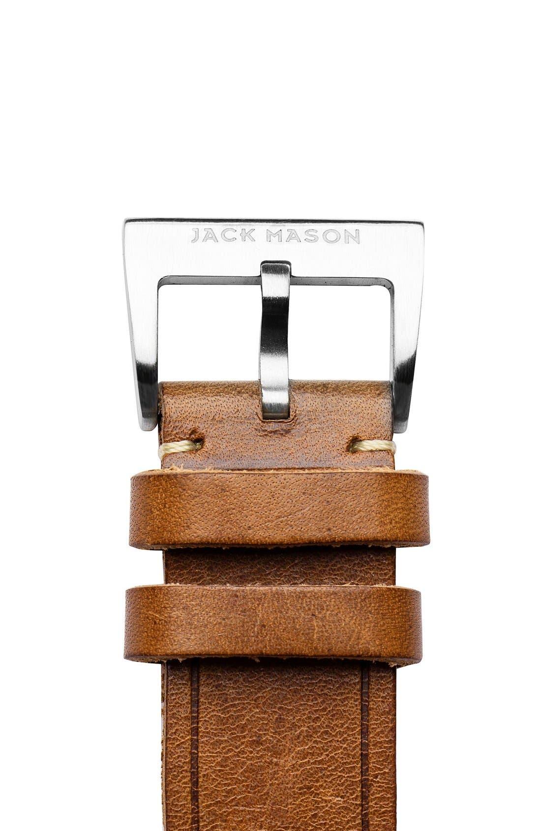 Alternate Image 3  - Jack Mason Leather Watch Strap, 22mm