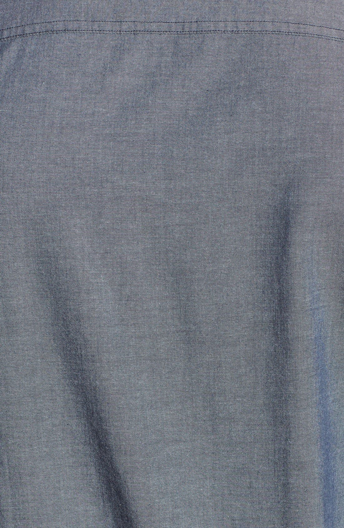 'Workwear' Trim Fit Chambray Sport Shirt,                             Alternate thumbnail 5, color,                             Light Blue