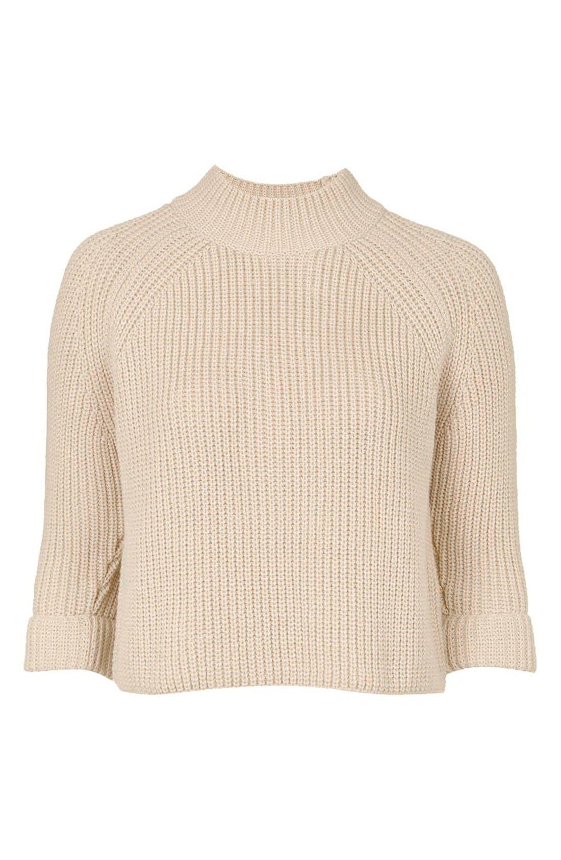 Alternate Image 4  - Topshop Mock Neck Raglan Sweater (Petite)