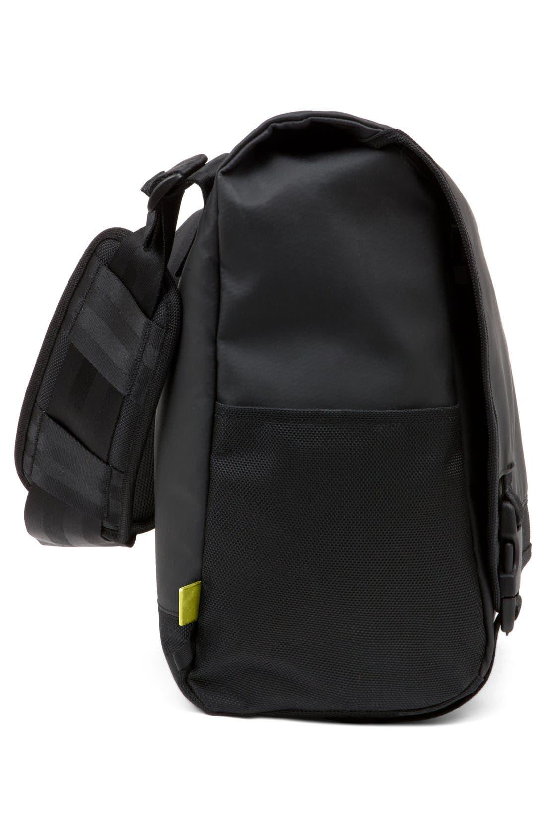 'Range' Messenger Bag,                             Alternate thumbnail 4, color,                             Black