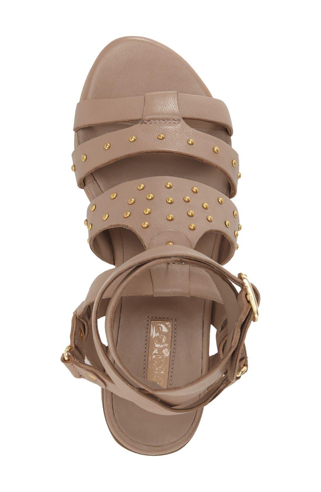 Alternate Image 3  - Topshop 'Flame' Stud Wraparound Ankle Strap Sandal (Women)
