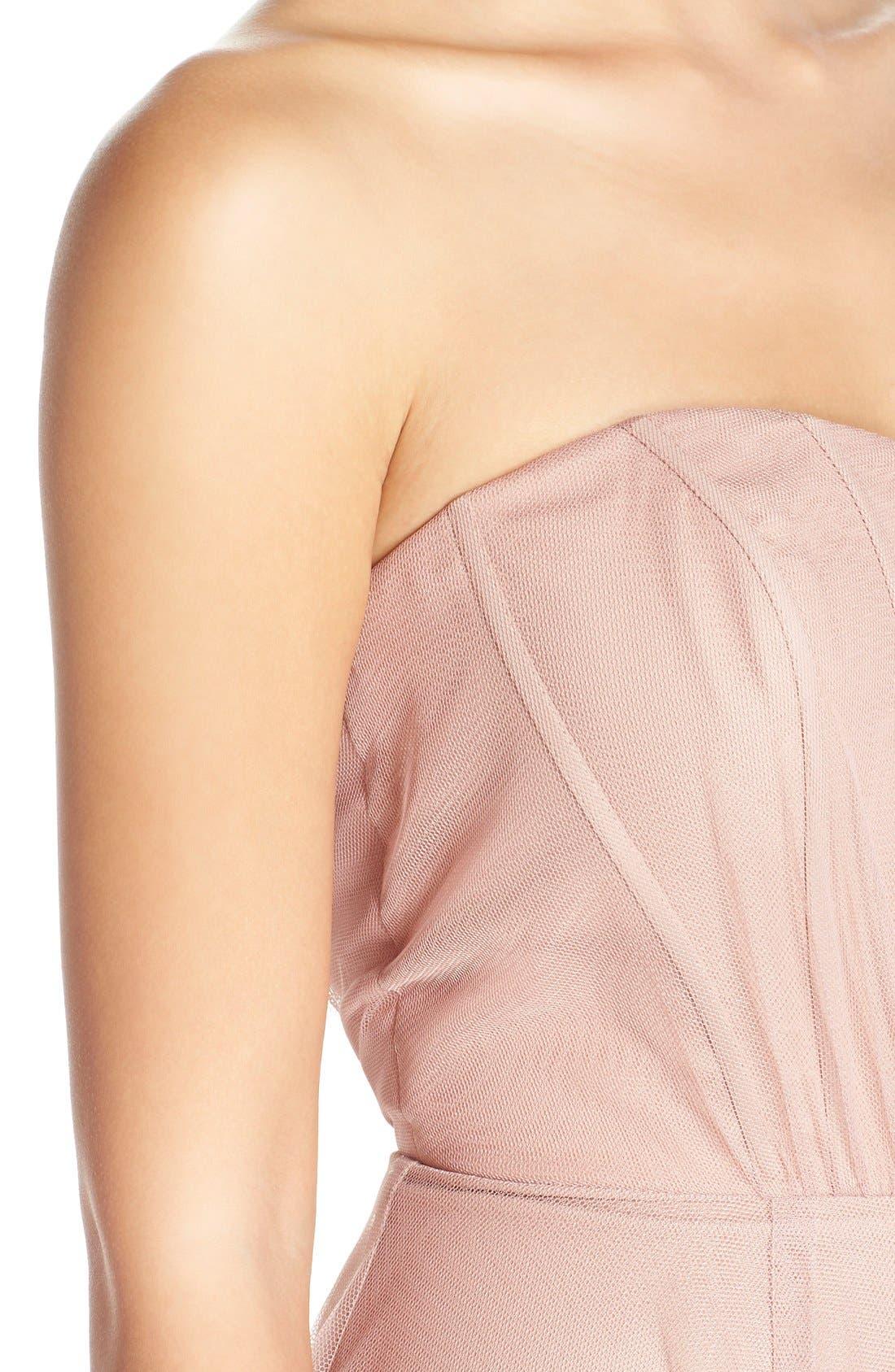 Alternate Image 4  - Monique Lhuillier Bridesmaids Strapless Tulle Gown