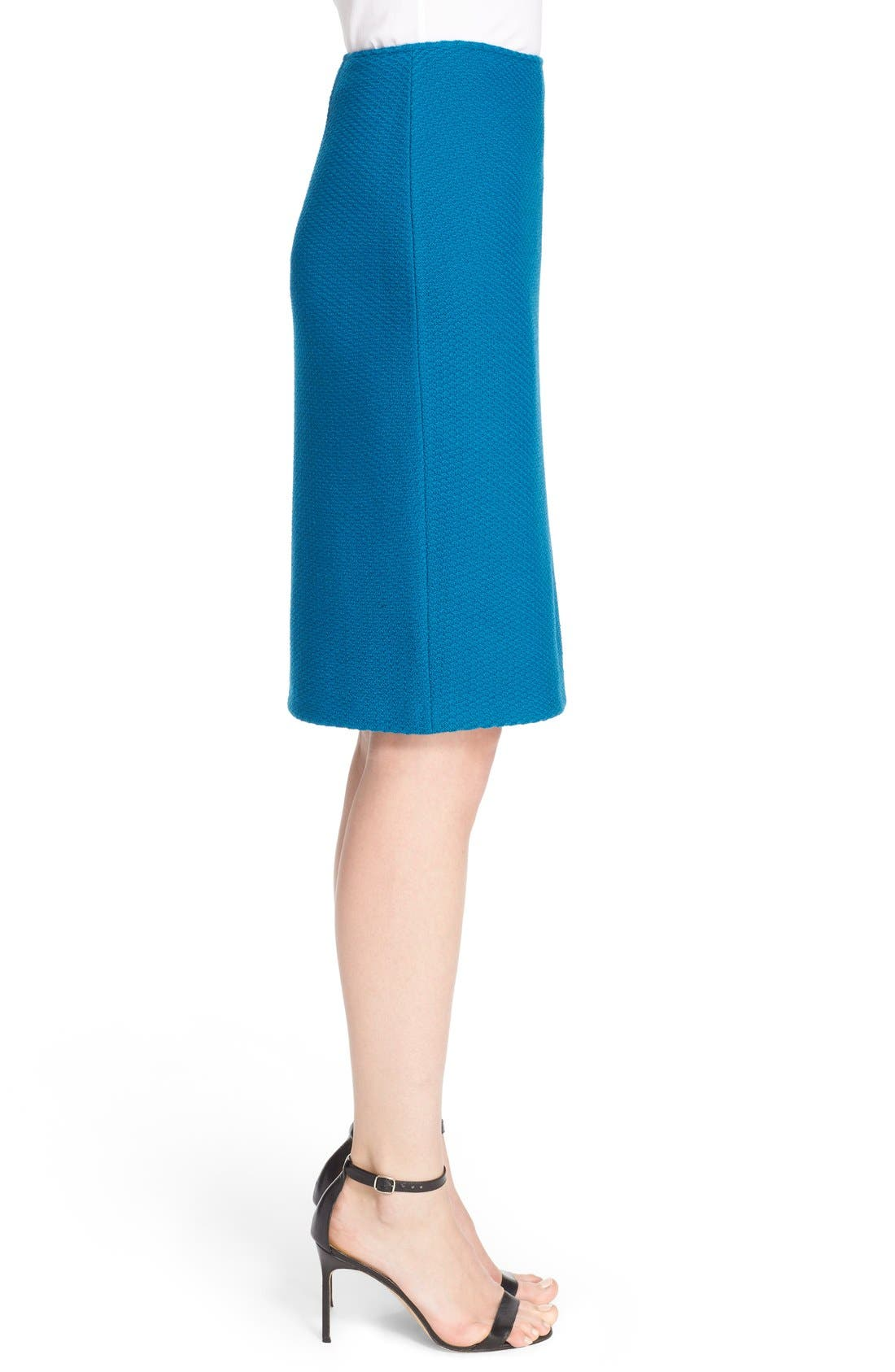 Alternate Image 5  - St. John Collection Textural Twill Pencil Skirt