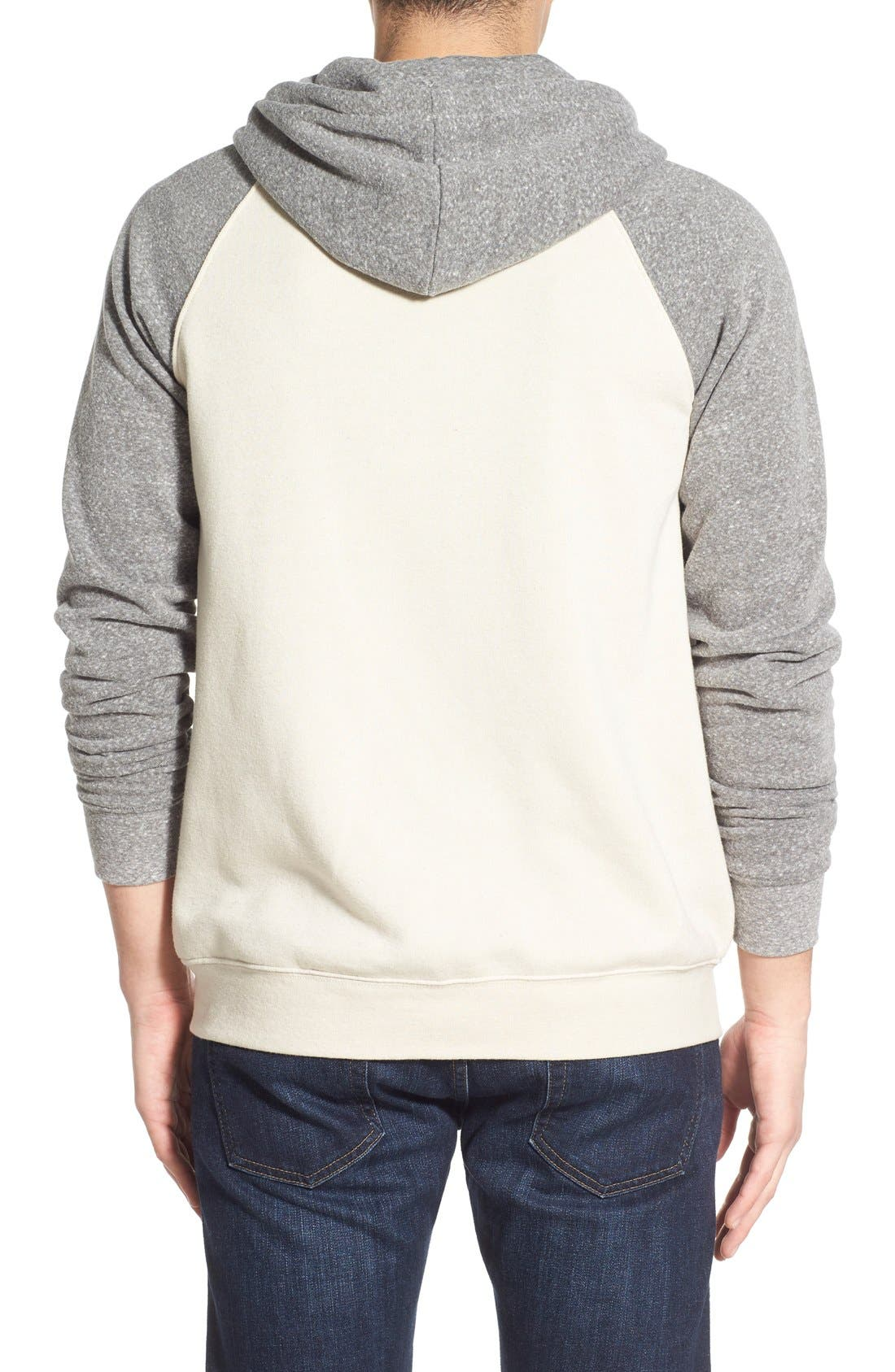 Alternate Image 3  - Threads for Thought Raglan Hoodie
