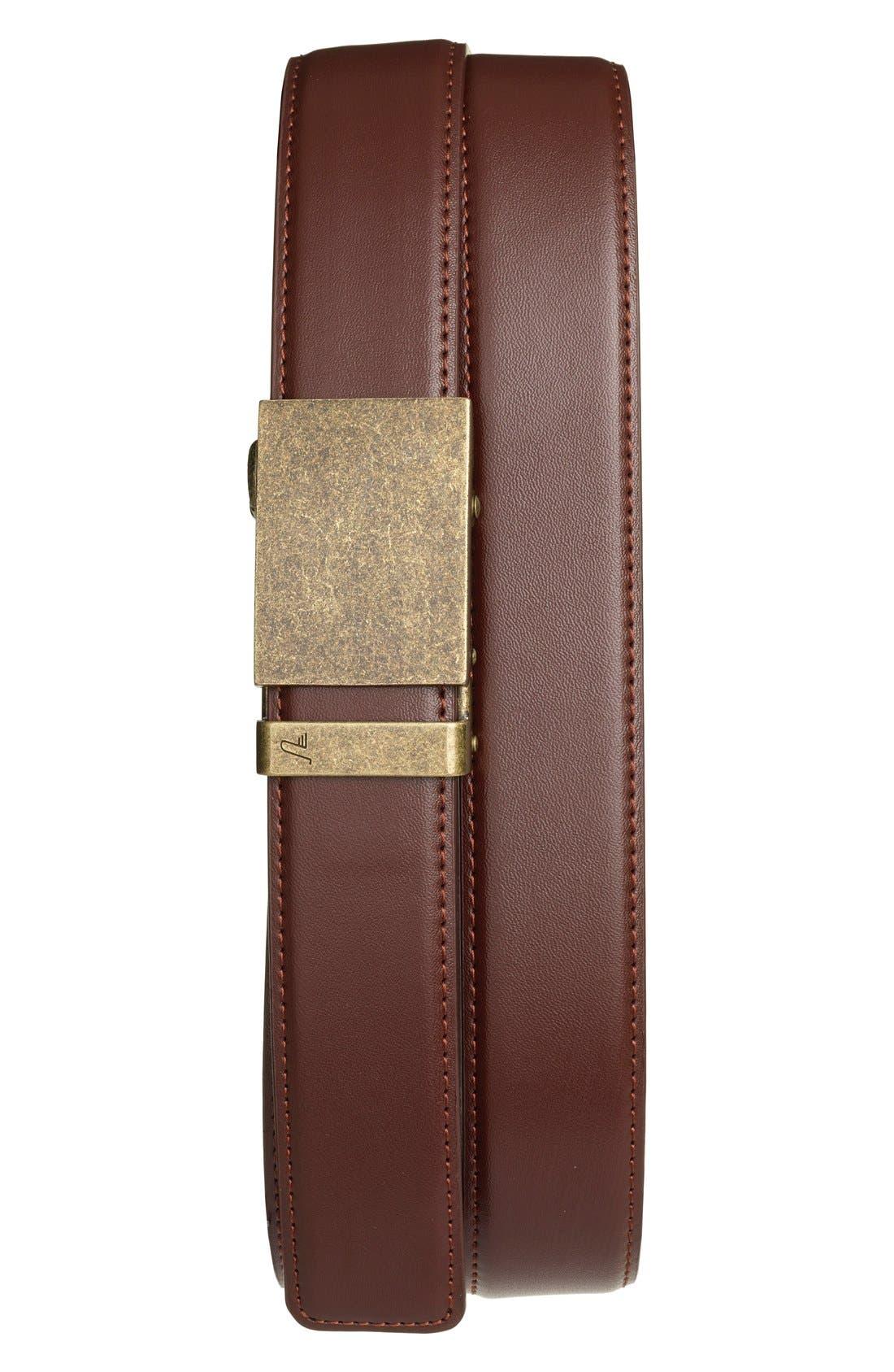 'Bronze' Leather Belt,                         Main,                         color, Bronze/ Chocolate